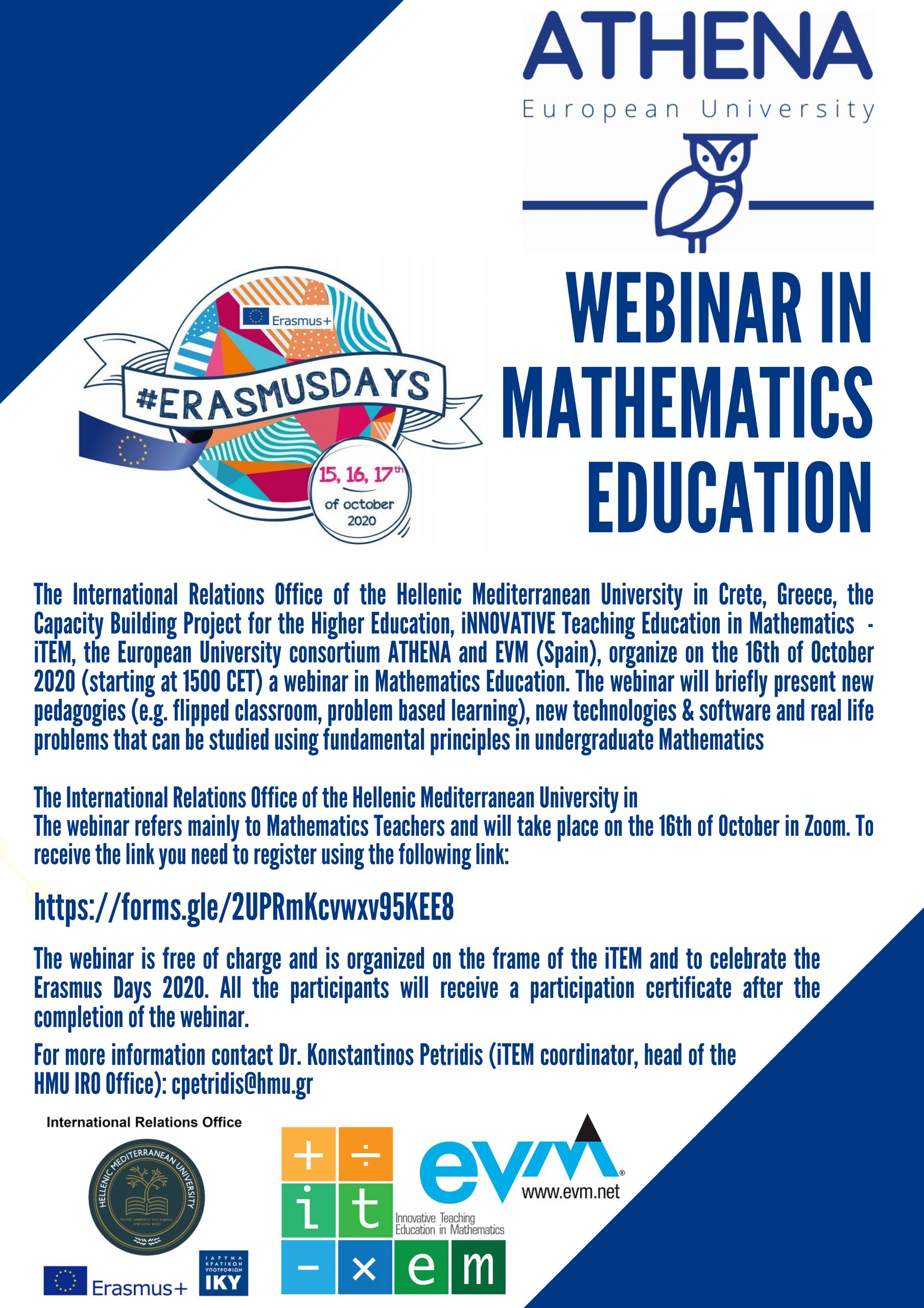 Webinar in Mathematics Education