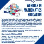 Webinar on Mathematics Education offered by ATHENA European University Consortium, 16th of October 2020